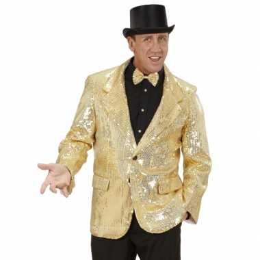 Gouden glitter carnavalskleding