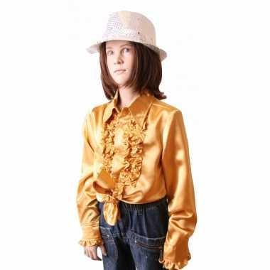 Gouden hippie carnavalskleding kind
