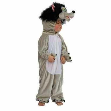 Grijze wolf carnavalskleding kind