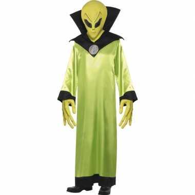 Groen alien carnavalskleding volwassenen