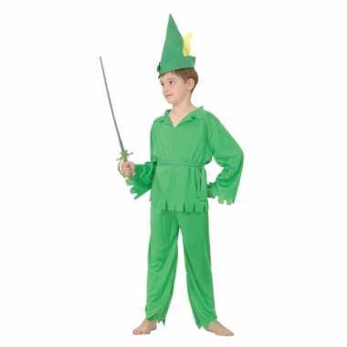Groen bos kind carnavalskleding kind