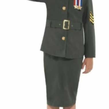 Groen soldaten uniform kind carnavalskleding