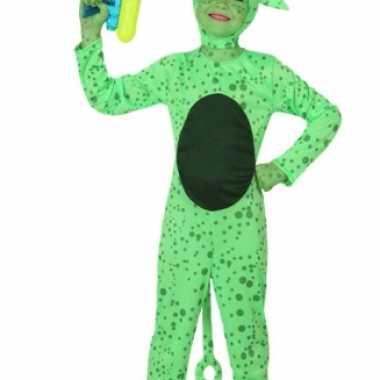 Groene alien carnavalskleding kind