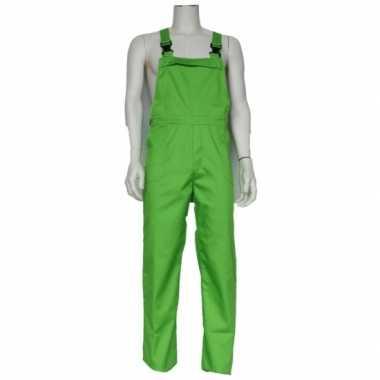 Groene kinder tuinbroek carnavalskleding