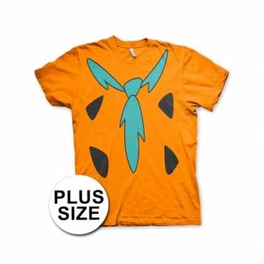 Grote maat fred flintstone shirt carnavalskleding volwassenen