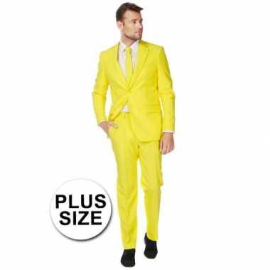 Grote maat maat carnavalskleding geel
