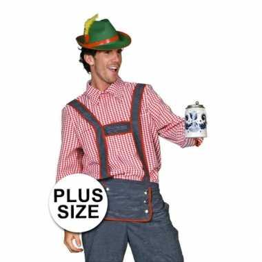 Grote maat Tiroler heren carnavalskleding
