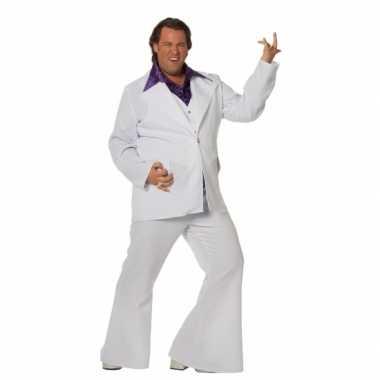 Grote maat wit Travolta carnavalskleding heren