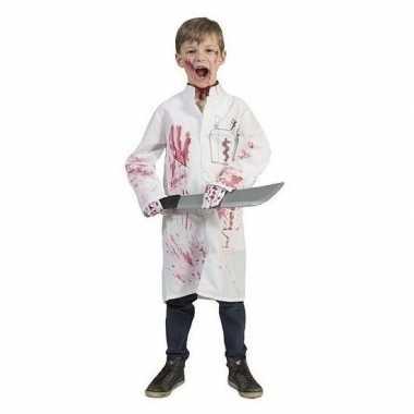 Halloween bebloed doktersas dokterslogo maat carnavalskleding