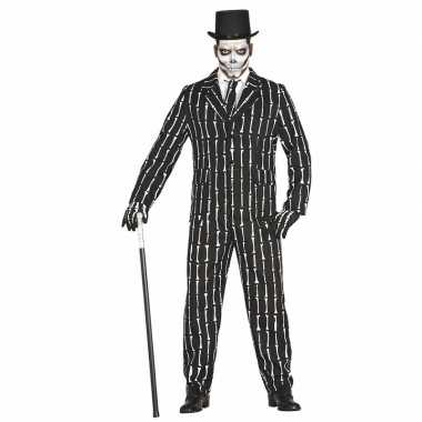 Halloween business suit skelet carnavalskleding