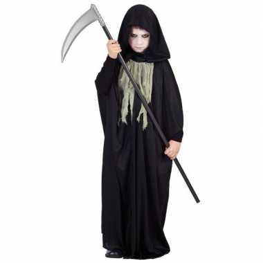 Halloween zwarte cape kind carnavalskleding
