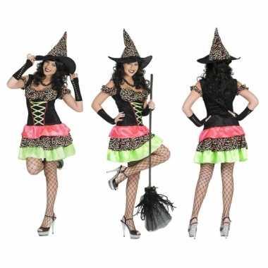 Heksen carnavalskleding hoed dames