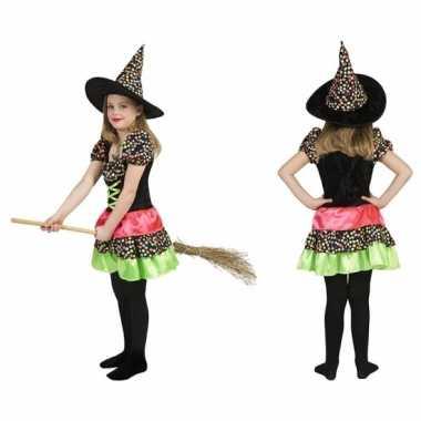 Heksen carnavalskleding hoed kind