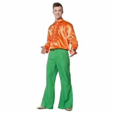 Heren broek groen wijd uitlopend carnavalskleding