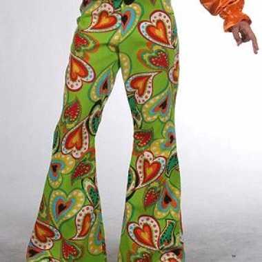 Hippie broeken kinderen hartes carnavalskleding