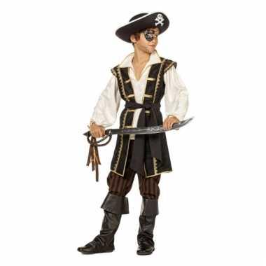 Jack piraat carnavalskleding bruin kind