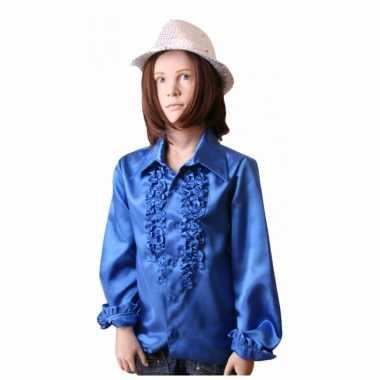 Kobaltblauwe hippie carnavalskleding kind