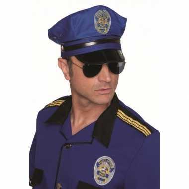 Kwaliteit blauwe politiepet carnavalskleding