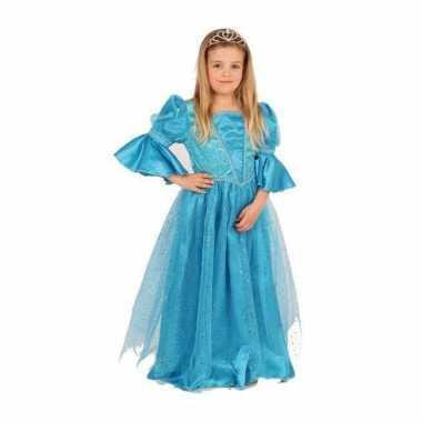 Kwaliteit blauwe prinsessen carnavalskleding