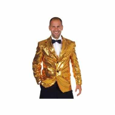 Kwaliteit gouden carnavalskleding heren