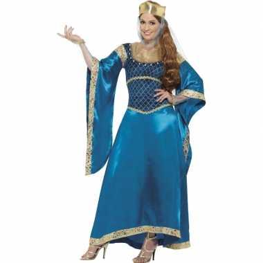 Kwaliteit prinsessen carnavalskleding blauw
