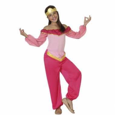 Kwaliteit roze arabische prinses carnavalskleding