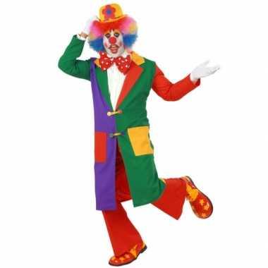 Lange clowns carnavalskleding volwassenen