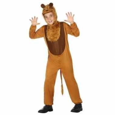 Leeuw onesie carnavalskledingset kinderen