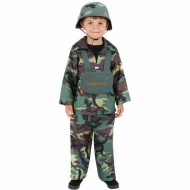 Leger soldaten carnavalskleding kind