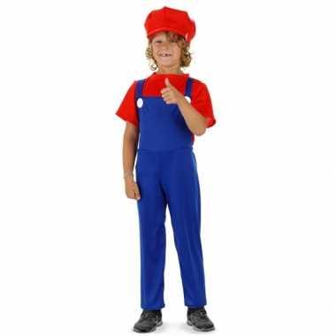Loodgieter mario carnavalskleding rood kind