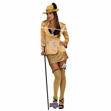 Madam carnavalskleding goud volwassenen