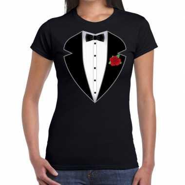 Maffiosi carnavalscarnavalskleding t-shirt zwart dames