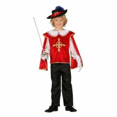 Musketiers carnavalskleding kind rood
