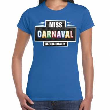 Natural beauty miss carnavalskleding shirt blauw dames