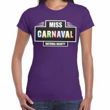 Natural beauty miss carnavalskleding shirt paars dames