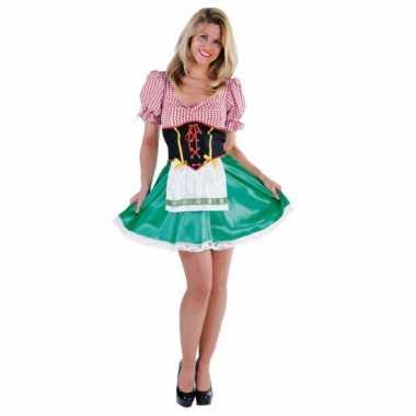 Oktoberfest groen rood carnavalskleding dames