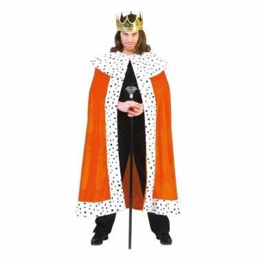 Oranje koningsmantel Willem carnavalskleding