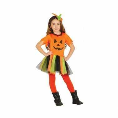 Oranje pompoen carnavalskleding kind