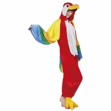 Papegaai onesie carnavalskleding
