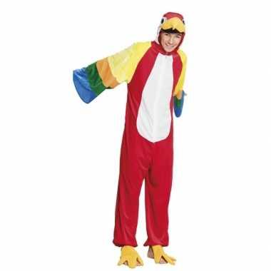 Papegaai onesie kids carnavalskleding