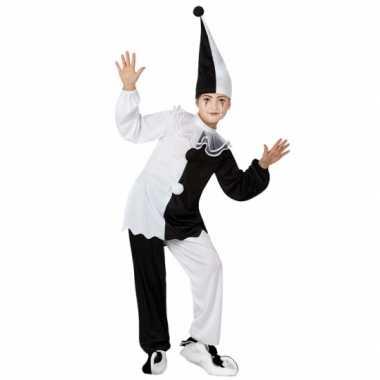 Pierrot clown carnavalskleding kind