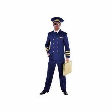 Piloot carnavalskleding heren blauw