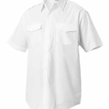 Piloten shirts korte mouw carnavalskleding