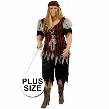 Piraten carnavalskleding grote maat vrouwen