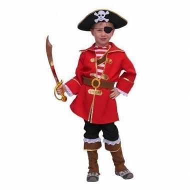 Piraten carnavalskleding kapitein kind