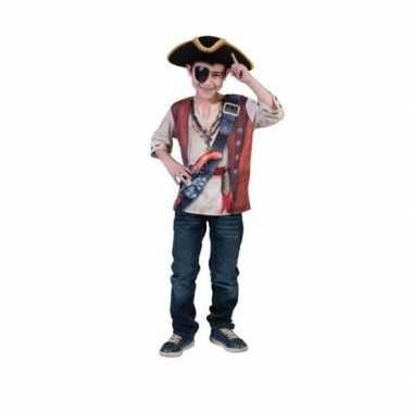 Piraten t-shirt D print kind carnavalskleding