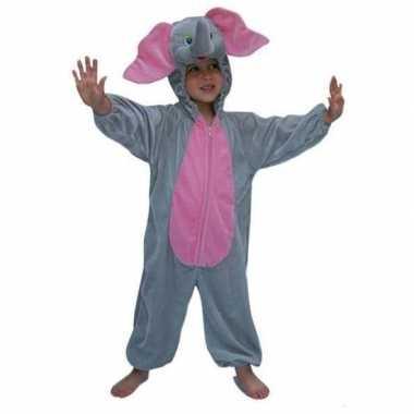 Pluche dieren carnavalskleding olifant kind