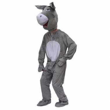 Pluche ezel carnavalskleding volwassenen