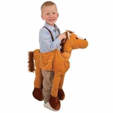 Pluche paarden carnavalskleding kind