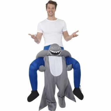 Ride on carnavalskleding haai volwassenen
